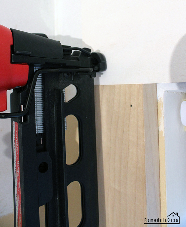using a brad nailer to install window trim