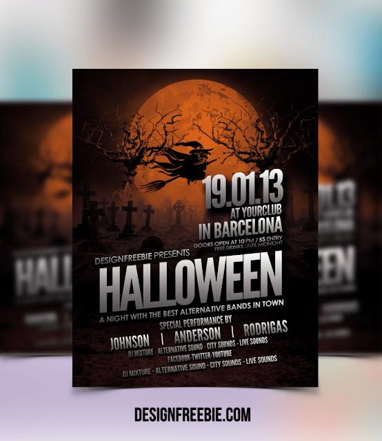 Halloween Party Flyer PSD Template