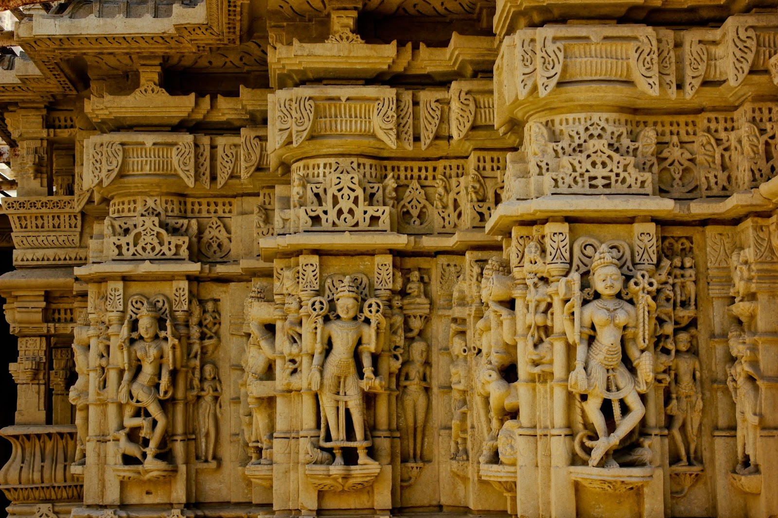 Artistic architecture at the Jain Temple inside the Jaisalmer Fort