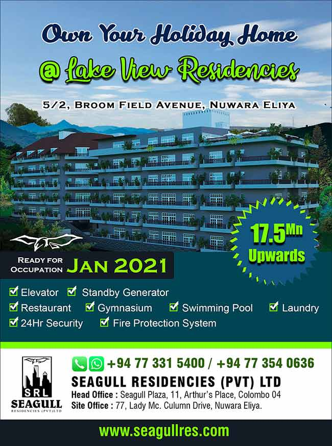 Own Your Holiday Apartment in Nuwara Eliya.