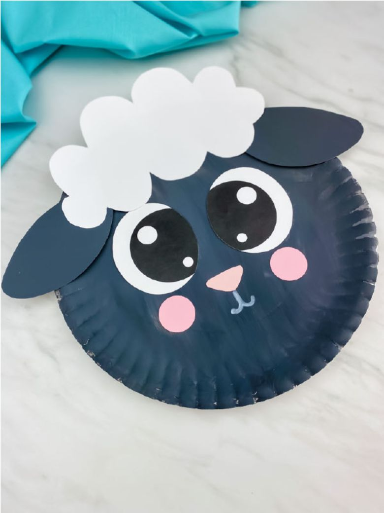 Easter crafts for preschoolers - Paper plate sheep craft