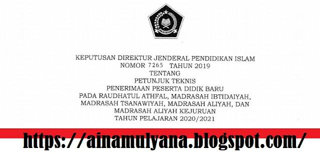 Juknis PPDB Madrasah (RA MI MTS MA MAK) 2020/2021