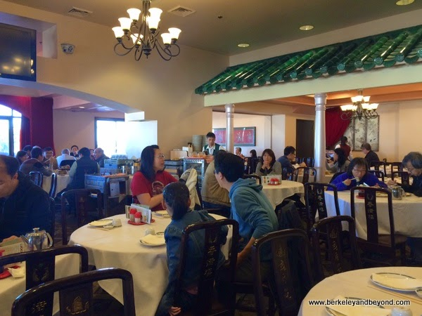interior of Hong Kong Flower Lounge restaurant in Millbrae, California