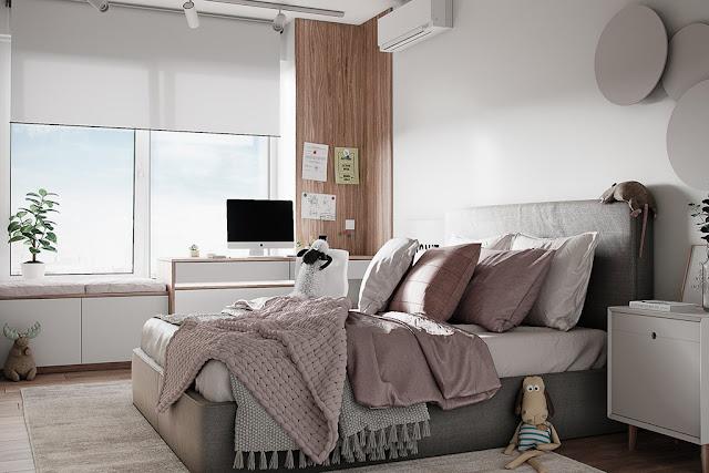 Thiết kế và thi công hoàn thiện nội thất căn hộ chung cư Celadon City quận Tân Phú - Phòng Master