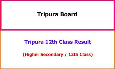 Tripura 12th Result