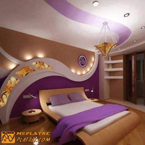 D cor de mur pour les chambres a coucher platre - Decoration mur chambre a coucher ...