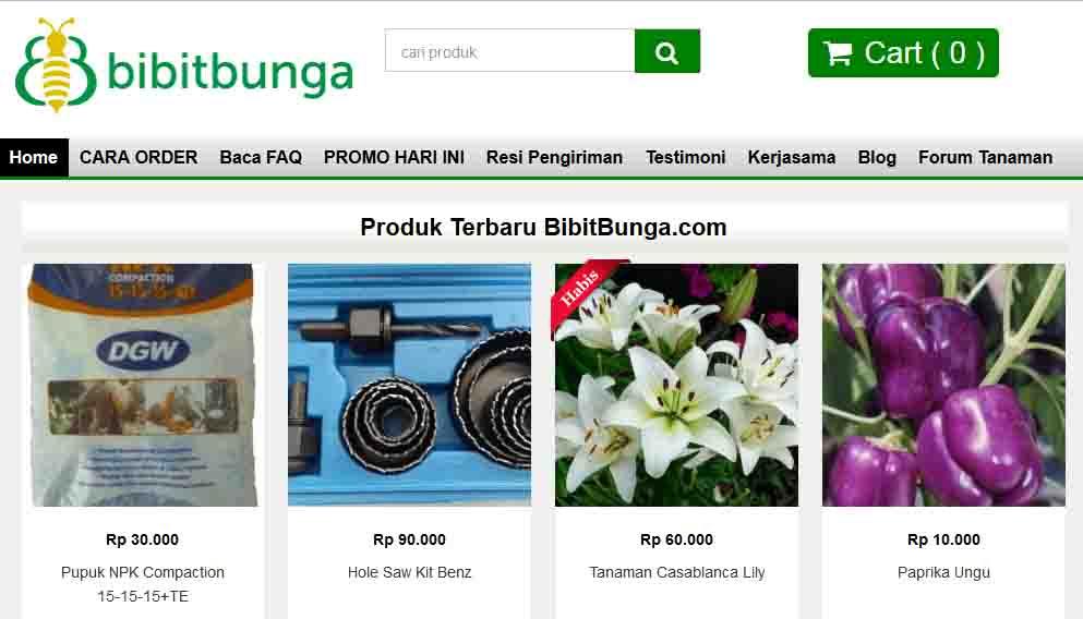 Homepage Bibit Bunga