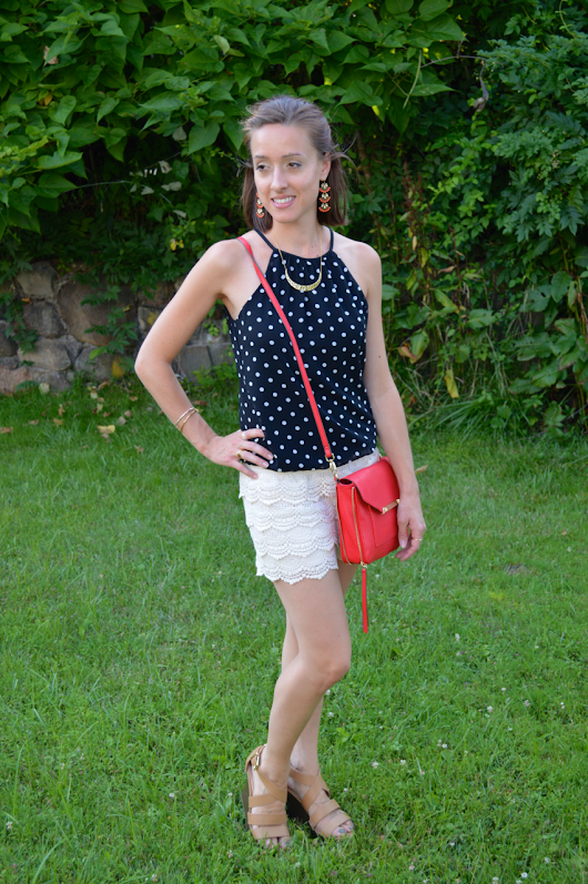 Fashion Friday - Lace and Polka Dots