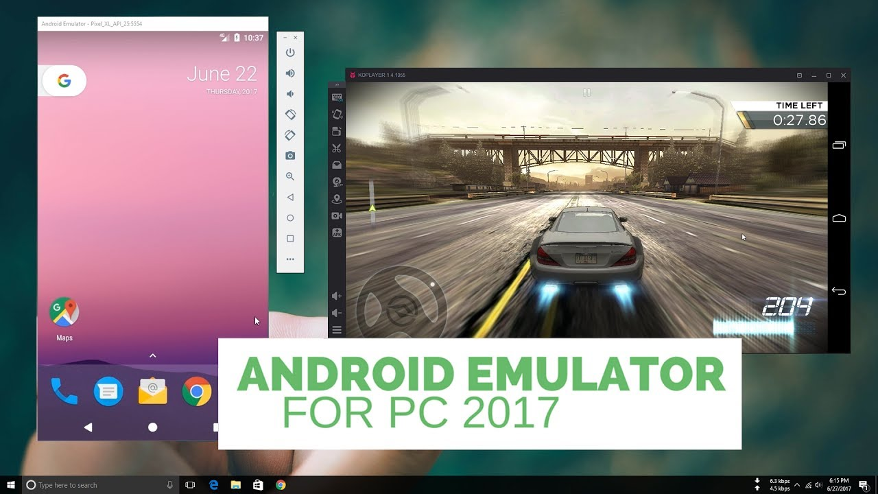 Top 10 Best Android Emulator For PC 2017 [video]