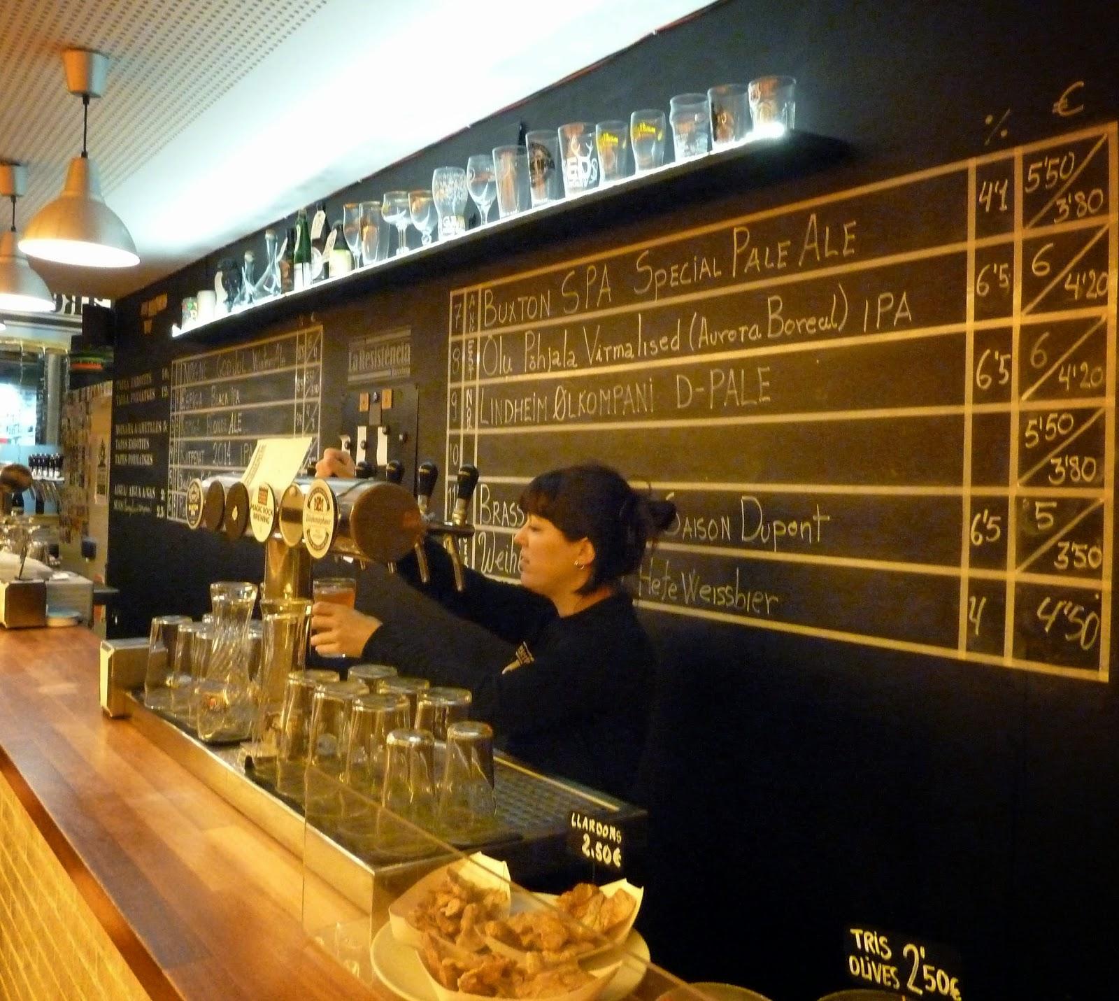 b7e63bafca0 The first Barcelona beer pub I visited was La Resistència