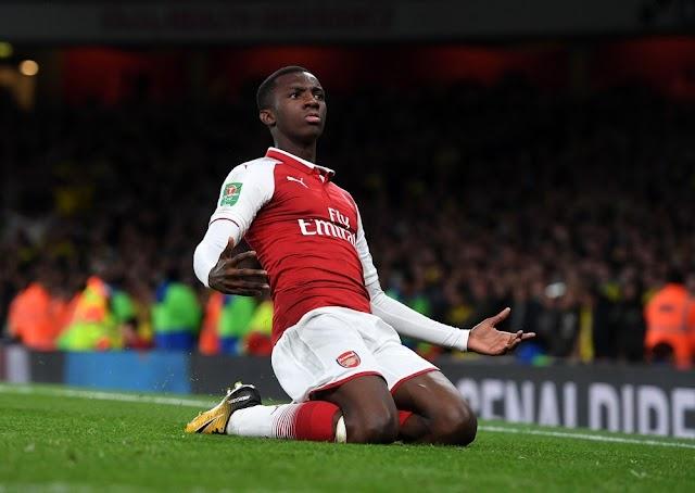 Patrick Vieira muốn đưa Eddie Nketiah đến Crystal Palace