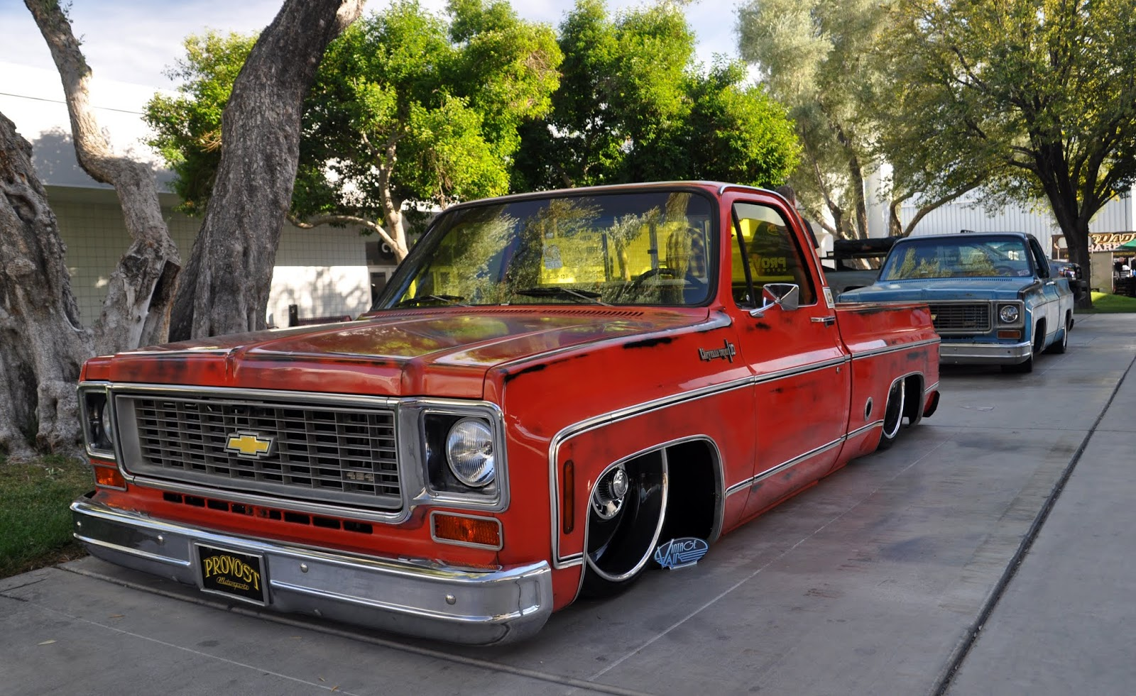 Just A Car Guy There Were Some Cool Old Chevy Trucks At Sema
