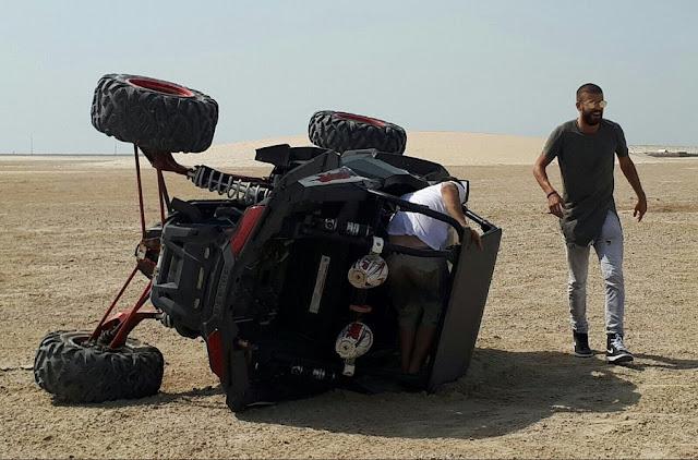 OMG!!! Piqué vuelca un buggy en las dunas de Beirut