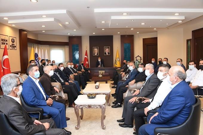 Başkan Altay'ı ziyaret ettiler