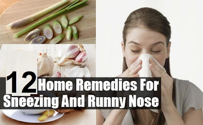how to stop your nose from running naturally