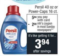 Persil Detergent CVS Coupon Deal 3-8-3-14