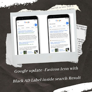 Google Rolling Out Update By Adding The Favicon Icon With The Black AD Tag To The Search Results