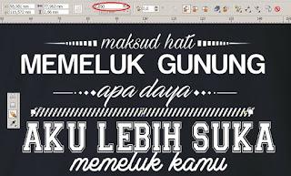 Cara Membuat Desain Kaos Distro Tema Tipografi dengan CorelDRAW