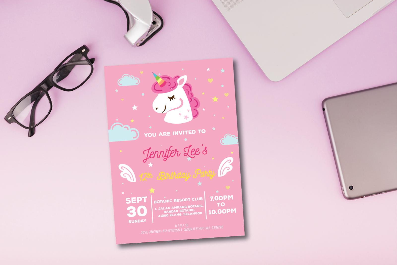 graphic relating to Unicorn Birthday Card Printable named Unicorn Birthday Card Print