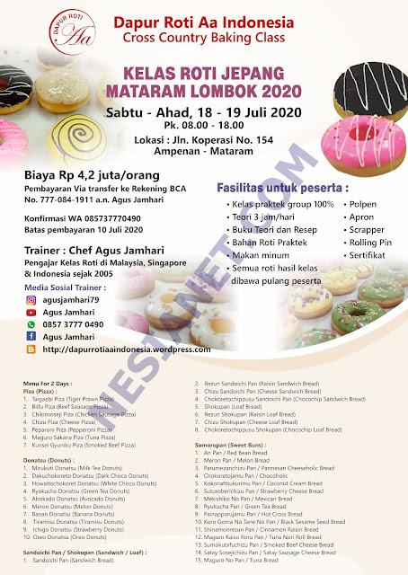 Kelas Roti Jepang Mataram Lombok 2020