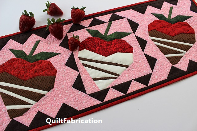 Chocolate Dipped Strawberry by QuiltFabrication