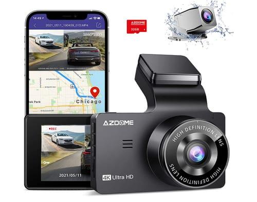 AZDOME GPS/WiFi 4K Dual Dash Cam Car Dashboard Camera