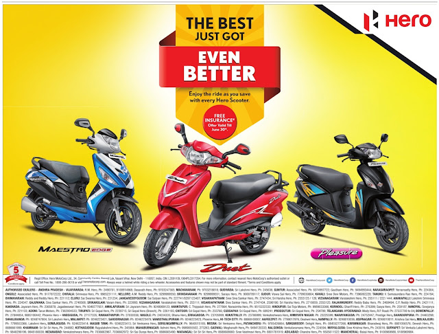 Hero Scooters/Bikes Amazing offers | June 2017 Discounts