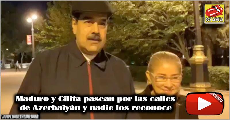 Maduro y Cilita pasean por las calles de Azerbaiyán y nadie los reconoce