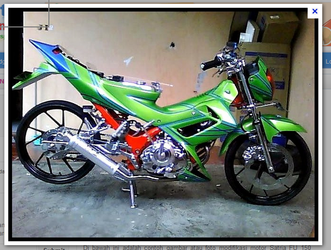 Modifikasi Suzuki Satria FU 150 | Modifikasi X
