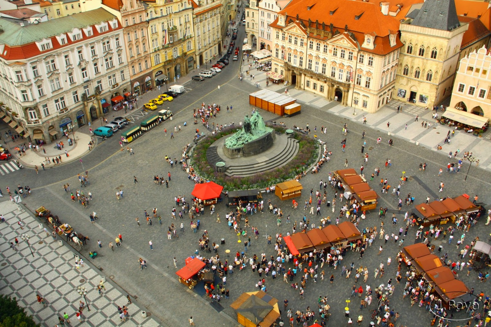 Plaza de la ciudad Vieja o Staroměstské náměstí de Praga