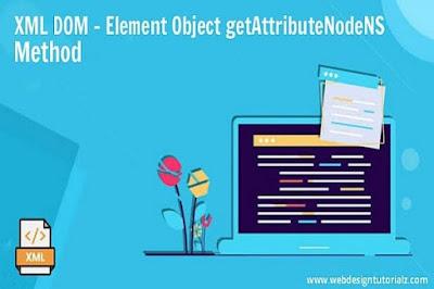 XML DOM   Element Object getAttributeNodeNS Method