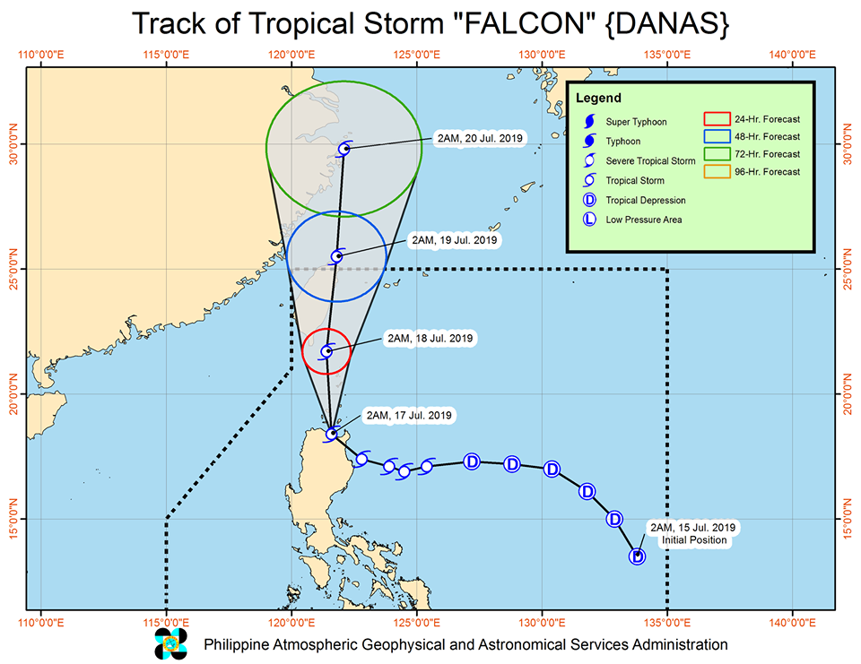 'Bagyong Falcon' PAGASA weather update July 17, 2019