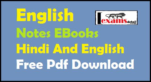English Notes EBooks Hindi And English Free Pdf Download