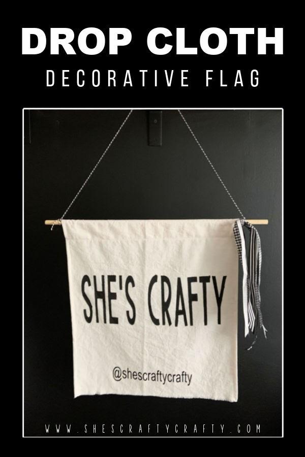 Drop cloth Decorative Flag Pinterest Pin.