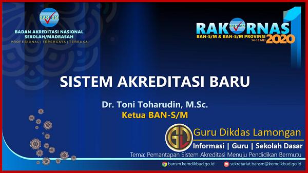 Sistem dan Mekanisme Baru Akreditasi Sekolah/Madrasah Hasil Rakornas Daring 2020