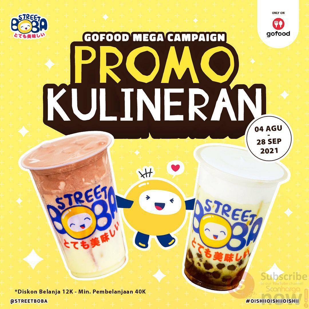 STREET BOBA Promo KULINERAN Diskon Rp. 12.000 Bareng GOFOOD