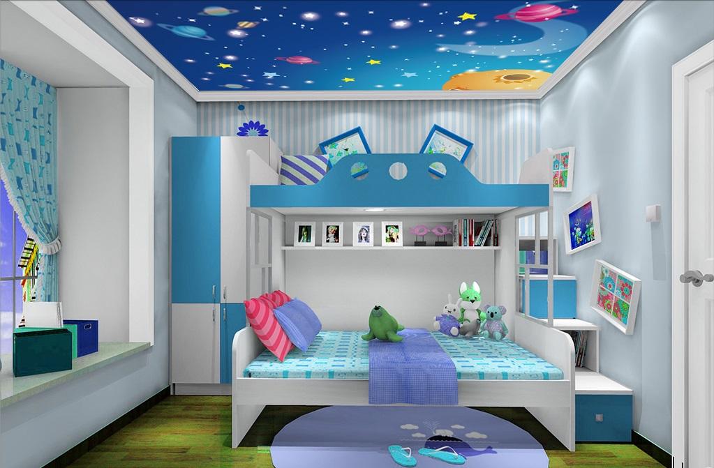 Tranh trần 3d phòng ngủ cho bé