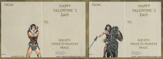 Back of last two Wonder Woman Valentines