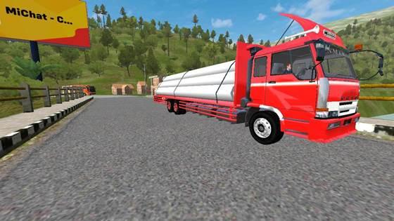 Mod Truck Fuso Muatan Paku Bumi Long Chassis