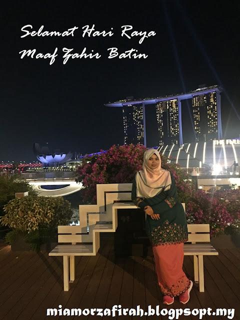 selamat hari raya, raya di perantauan, singapore, bagaimana perasaan beraya di perantauan, #sayangraya, tulus ikhlas, suci murni, projek raya, singapore trip, uss, merlion, raya 2017,