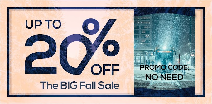 Save up to 20% on The BIG Fall Sale