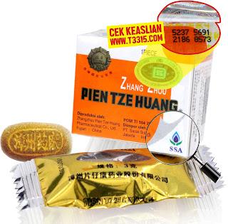 Cek keaslian obat Pien Tze Huang
