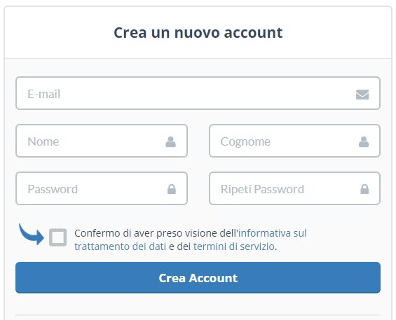 creare account Tophost