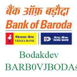 Vijaya Baroda Bodakdev Branch Ahmedabad New IFSC