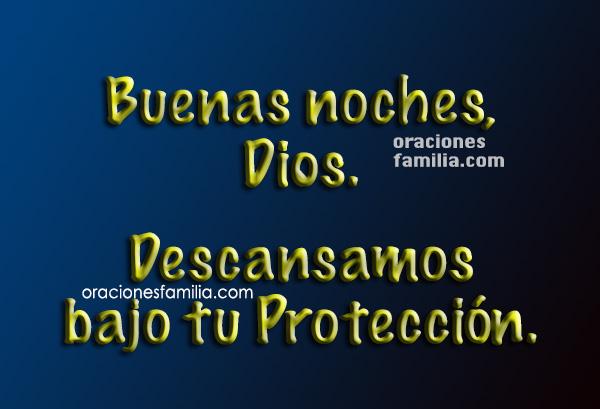 imagen oracion buenas noches Dios