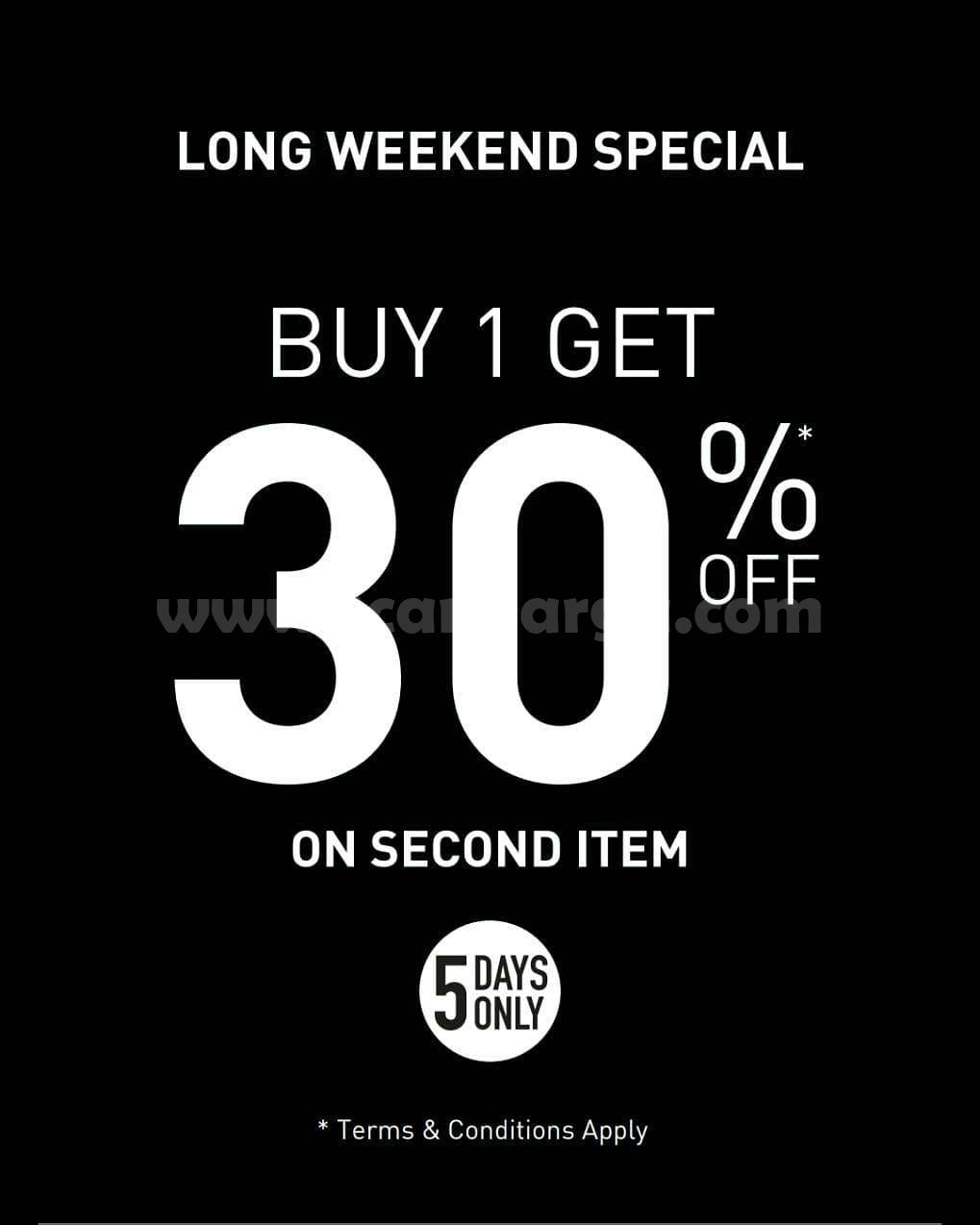 Promo Puma Special Long Weekend – Buy 1 Get 30% Off