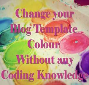Change blog template colour without any coding knowledge, in easy steps