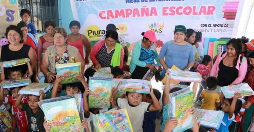 Donan paquetes escolares a 2,500 niños de Tambogrande en Piura