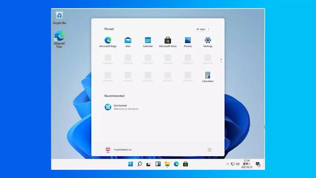 وينذوز 11 مع واجهة مستخدم جديدة لسطح المكتب وقائمة ابدأ والمزيد