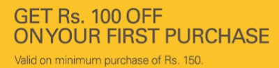 Get flat ₹ 100 off on minimum purchase of ₹ 150 from eBay +10% extra cashback (valid for new users)